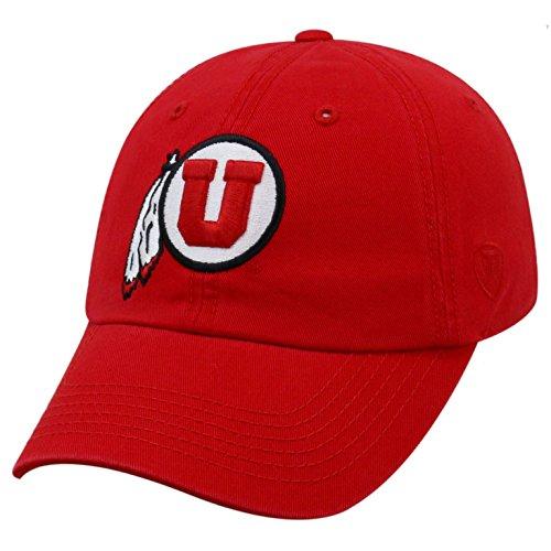 Top of the World NCAA-Cotton Crew-City-Adjustable Strapback-Hat Cap-Utah Utes-Crimson