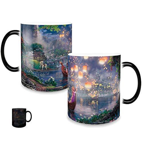 Morphing Mugs Thomas Kinkade Disney Princess Tangled Painting Heat Reveal Ceramic Coffee Mug - 11 Ounces -
