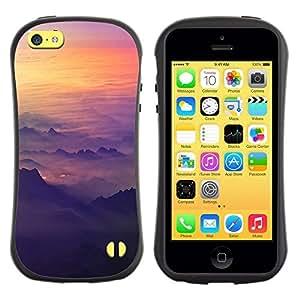 """Pulsar iFace Series Tpu silicona Carcasa Funda Case para Apple iPhone 5C , Cielo Avión Sunset Montañas Vuelo plano"""""""