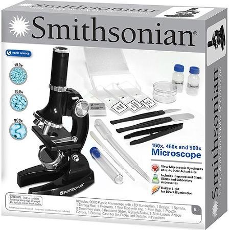 Amazon Smithsonian 150x 450x 900x Microscope Kit Toys Games