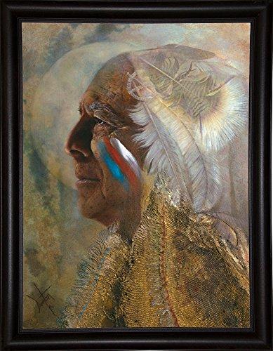 Frame USA Wicasa Wakan (the Holy Man) Framed Print 42.5''x31.5'' by Denton Lund, 42.5x31.5, Bistro Expresso by Frame USA