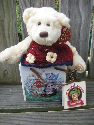 - Dandee 100th Anniversary Teddy's Teddy Limited Edition Bear in Ceramic Tote