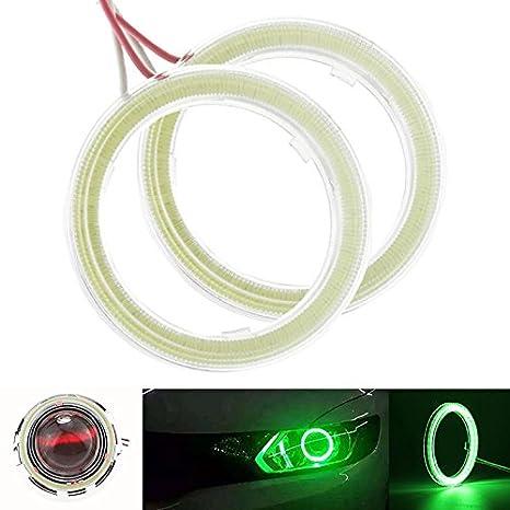 Taben Anello LED COB 45SMD luminoso, diametro 60 mm, luce bianca 6500 K, Lampada per fari Angel Eyes, tensione DC12 V (1 coppia) luce bianca 6500K tensione DC12V (1 coppia)