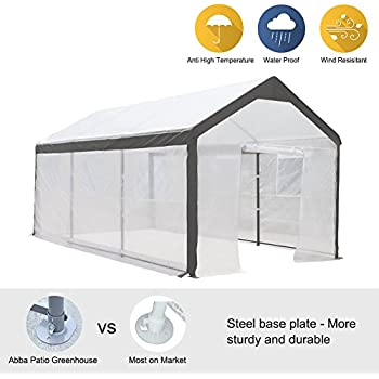 Abba Patio 10 x 20-Feet Large Walk in Fully Enclosed Lawn and Garden Greenhouse with Windows White  sc 1 st  Amazon.com & Amazon.com : ShelterLogic GrowIT Greenhouse-in-a-Box 10 x 20 x 8 ft ...