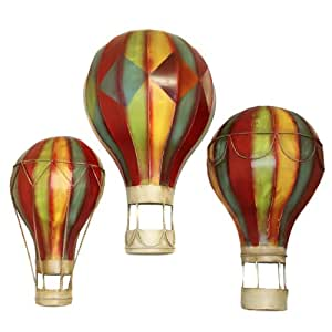 amazoncom grand spectacular hot air balloons metal wall