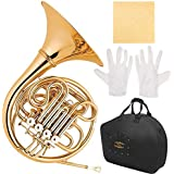 Glory GFH-42 Professional 4 Keys of F/Bb Double French horn with Case and accessory, Click to see more choice