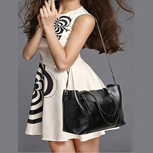 Shopper Bags match Tote Purse for Clutch All Handle Top Women Handbags Shoulder Ladies Hobo Bags Black Crossbody FiveloveTwo Satchel Ppq17w