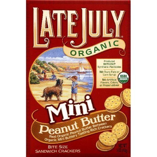 Late July Mini Peanut Butter Swch Cracker OG2 5 oz. (Pack of 12)