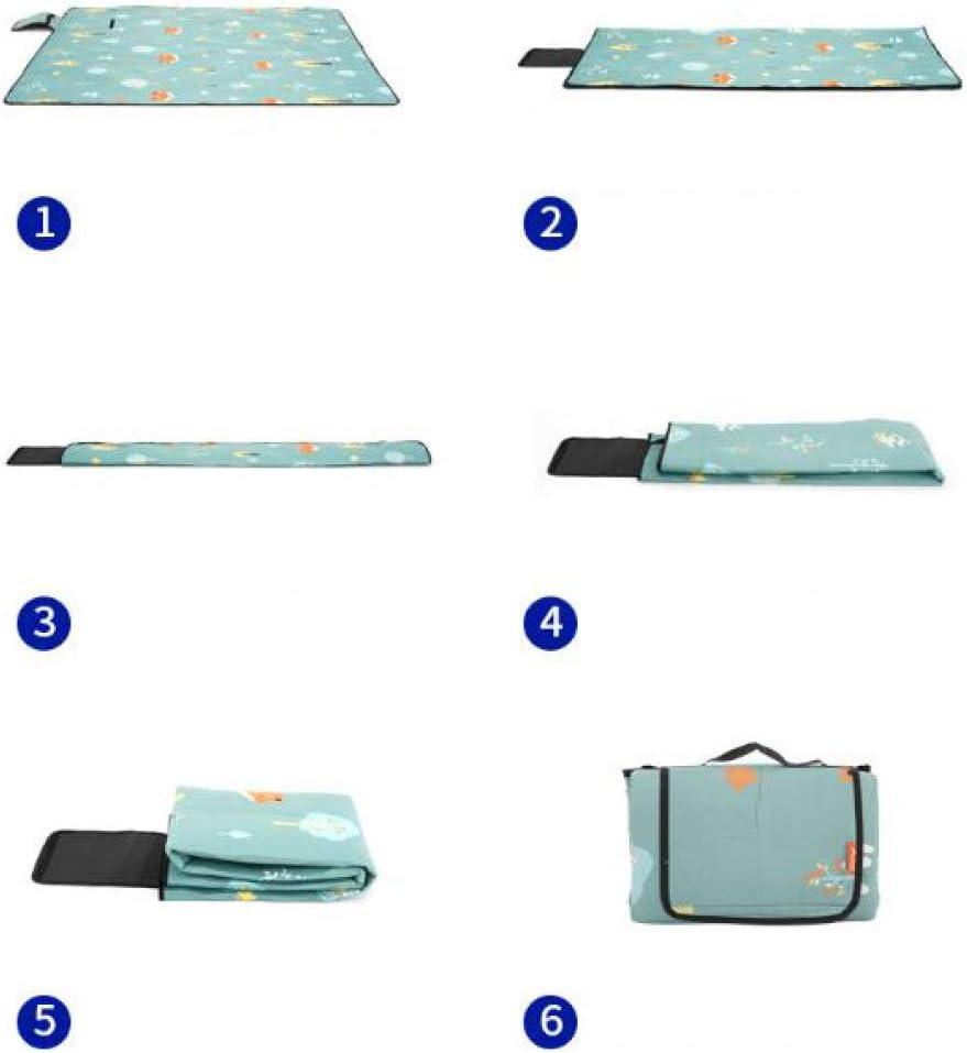 WPPD Coperta da Picnic Tappetino da Campeggio Portatile Pieghevole Addensato, Impermeabile e Resistente all'umidità, B, 150 * 100 cm M-200*200cm