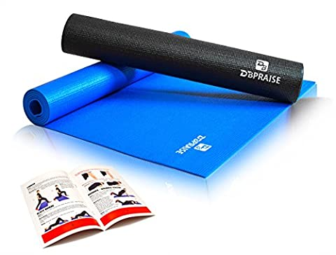 DB Praise Yoga Mat - Non-Slip, Durable PVC, Includes Illustrated Instruction Booklet, 67 in x 24 in, Available in 2 - Monster Yoga Mat