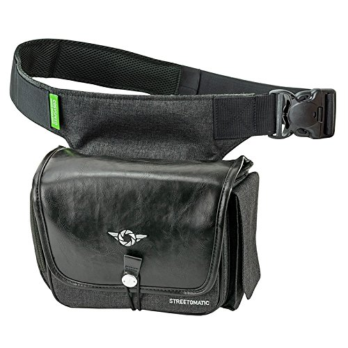 COSYSPEED CAMSLINGER Streetomatic+ Camera Waist Bag Fanny Pack Compatible With Most Mirrorless & Small Body DSLR Cameras | Integrated FidLock Magnetic Latch for Quick One Handed Operation (Brown/Gray)