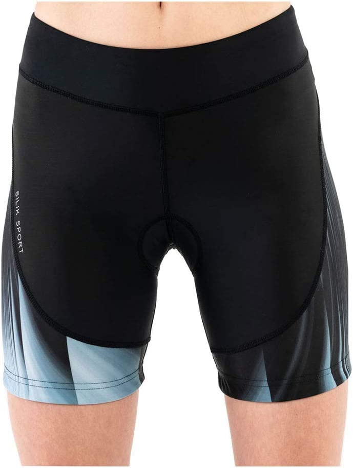 SILIK Womens Cycling Bike Shorts with Breathable Padded Compression Bicycle Underwear