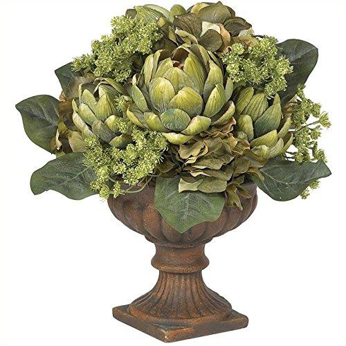 Nearly Natural Silk Artichoke - Nearly Natural Artichoke Centerpiece Silk Flower Arrangement in Green