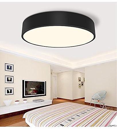 AWAMA Badlampe Deckenlampe Led Modern Rund Schwarz Leuchten  Schlafzimmerlampe Wohnzimmerlampe Decke Lampe Zimmerlampe Für Schlafzimmer  Bad ...