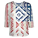 Vintage Ethnic Americana for Womens Dolman Sleeve by Peoples Choice Apparel (L)