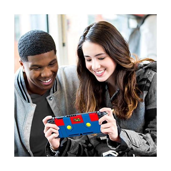 Controller Gear Nintendo Switch Skin & Screen Protector Set - Super Mario - Mario's Outfit - Nintendo Switch 5