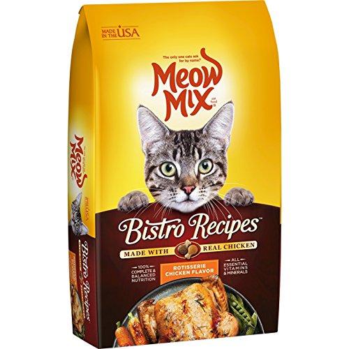 Meow Mix Bistro Recipes Rotisserie Chicken Flavor Dry Cat Food - 17-Pound
