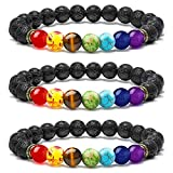 M MOOHAM Boyfriend Gifts Girlfriends Gifts Bracelet - 8mm Natural Chakra Bead Bracelets for Women Men, Stress Relief Aromatherapy Essential Oil Diffuser Bracelets for Women Men