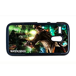 Quilted Phone Cases For Man For Moto G 1 Gen With Watch Dogs Choose Design 2