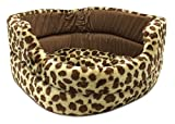 NEW PET BED Spotted Giraffe print Plush Dog Cat Sleeper For Sale