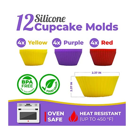 Cake Decorating Supplies Kit, 107 pieces - Cake Stand, Disposable and Reusable Piping Bags, Stainless Steel Piping Tips, Silicone Cupcake Molds, Cake Scrapers, Spatulas and many more baking supplies 3 THE COMPLETE ALL-IN-ONE KIT - The most complete cake decorating set, designed to fulfill all of your baking needs. Perfect for beginners and aspiring CAKE BOSSES!! DECORATING SET INCLUDES: - 48x Small Stainless Steel Piping Tips | 25x Disposable Pastry Piping Bags | 12x Silicone Cupcake Molds (Oven safe, heat resistant up to 450° F) | 5x Large Piping Tips | 3x Cake Side Scrapers | 2x Small Piping Bag Couplers | 2x Icing Spatulas | 2x Flower Nails | 2x Silicone Piping Bags (12in & 16in) | 1x Rotating Cake Stand with a non-slip base | 1x Cake Leveler | 1x Flower Lifter Scissors | 1x Decorating Pen | 1x Large Piping Bag Coupler and 1x Cleaning Bru PREMIUM QUALITY YOU CAN TRUST  - We know safeguarding your family's health is your #1 priority. This is why we strive to use only high quality, non-toxic materials. All 53 piping tips are made of premium non-corroding stainless steel that is dishwasher safe and both our piping bags and cupcake molds are made out of BPA Free and Food Grade Silicone meeting U.S. FDA and European LFGB food safety standards.