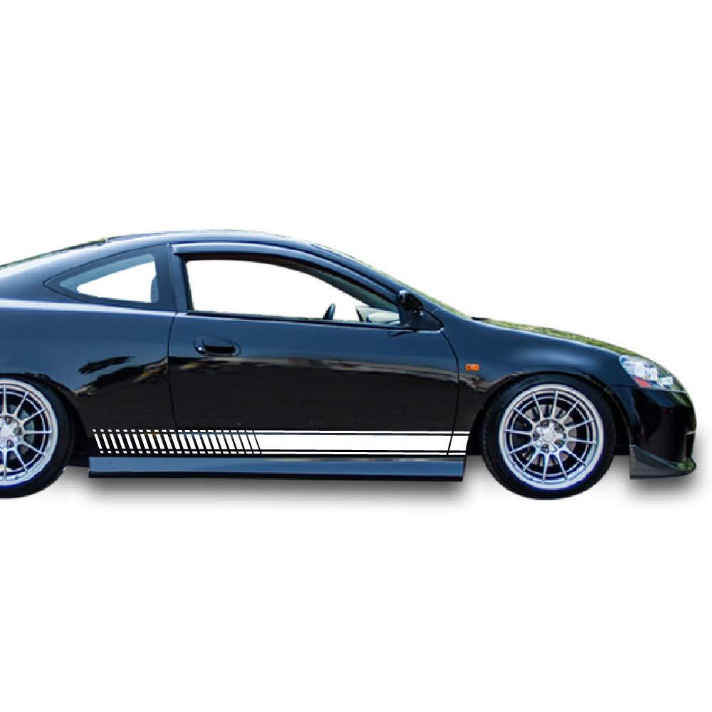 Amazon com bubbles designs 2x decal sticker vinyl side racing stripes compatible with honda integra type r 4th generation models automotive