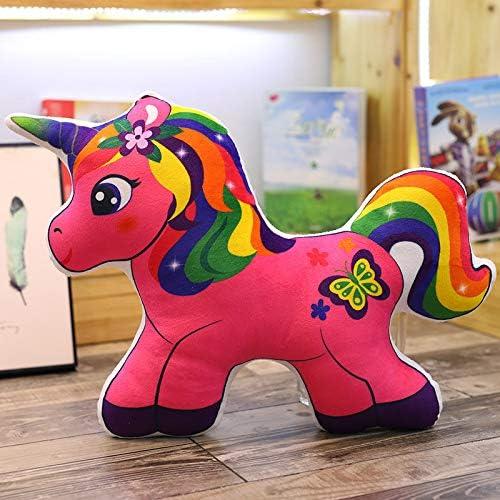 LAJKS Kawaii - Almohada de Felpa con diseño de Caballo arcoíris ...