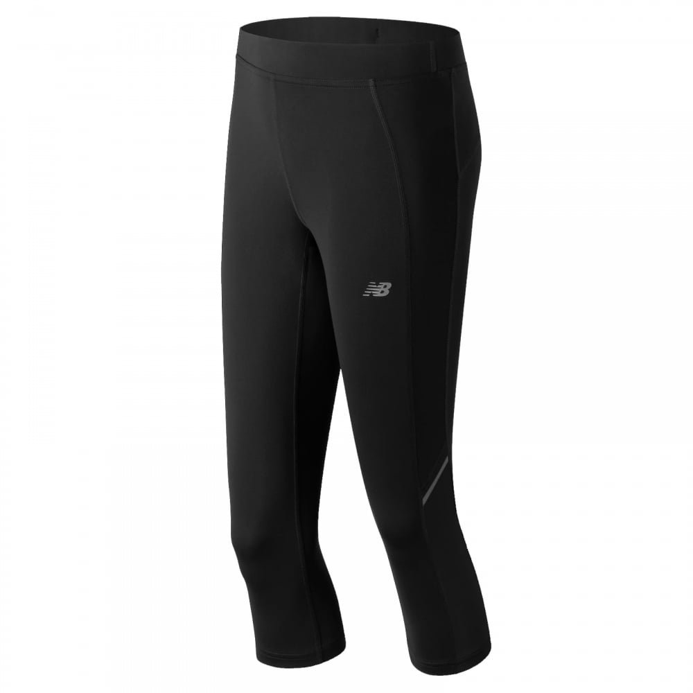 New Balance Women's Accelerate Capri Pants, Black, X-Small