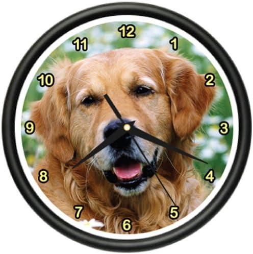 Golden Retreiver Wall Clock Dog Dogs pet Retriever