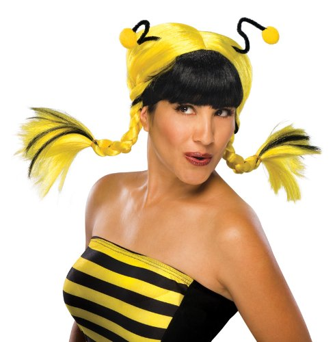Rubie's Bee Mine Wig, Black/Yellow, One Size