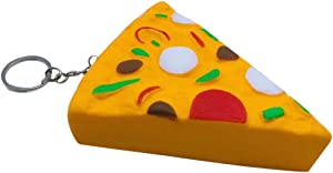 Livoty Yummy Food Squishy Slow Rising Cream Scented Charm Stress Reliever Toy (Pizza)
