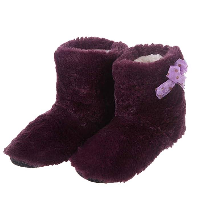 Zapatillas de casa para Mujer Zapatillas de Tobillo Botines Botines de Interior Dormitorio Algodón para Mujer: Amazon.es: Zapatos y complementos