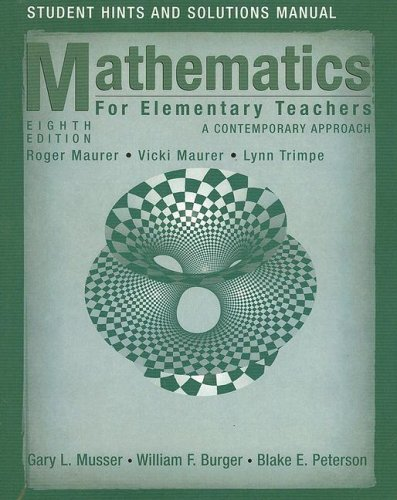 Student Hints and Solutions Manual to accompany Math for...