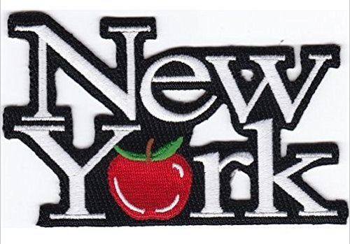"""USA New York / Apple Embroidered Patch 4.3""""x2.75"""" Shipped from USA"""