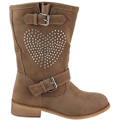 Unbekannt - botas estilo motero Mujer - caqui