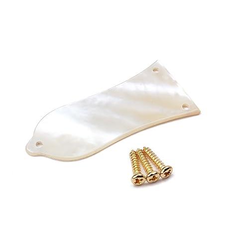 Sharplace Cubierta de Alma para Guitarra Eléctrica, Concha, Blanco, Truss Rod Cover