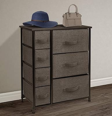 Sorbus Dresser with 7 Drawers - Furniture Storage Tower Unit for Bedroom, Hallway, Closet, Office Organization - Steel Frame, Wood Top, Easy Pull ...