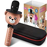 Wireless Karaoke Microphone for Kids – Bluetooth Mic Great for Solo Singing, KTV Parties, Magic...