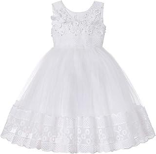 Elecenty Abiti da Principessa Girl Unicorn Party Cosplay Festa di Compleanno Dress-up principessa pizzo tutu gonna Dress