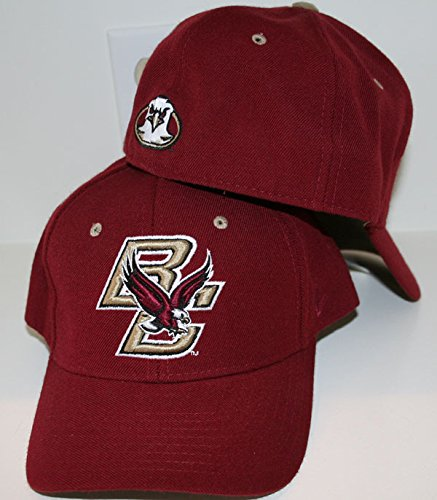 Zephyr Boston College BC Eagles Red Maroon Gold DH Boys/Youth/Child Fitted Baseball Hat/Cap Size 6 7/8 ()