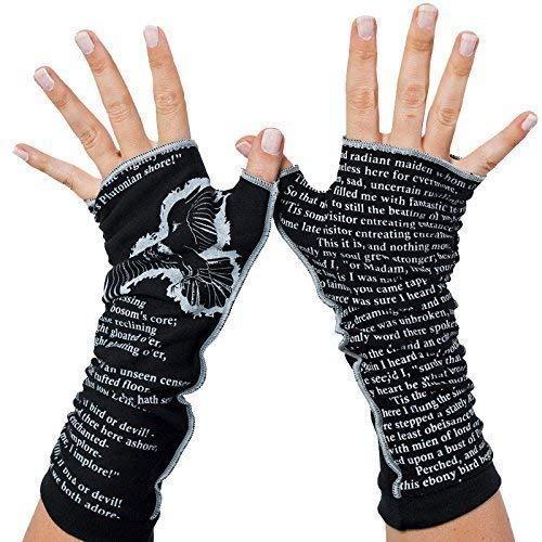 The Raven by Edgar Allan Poe - Fingerless Writing Gloves ()