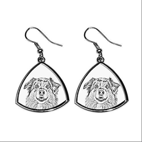 australian-shepherd-collection-of-earrings-with-images-of-purebred-dogs-collection-de-boucles-doreil