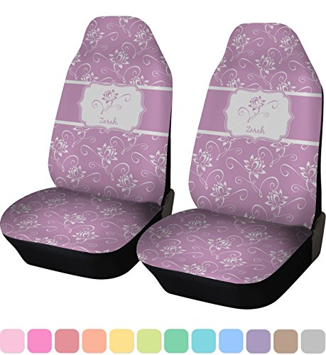 RNK Shops Lotus Flowers Car Seat Covers (Set of Two) (Personalized)