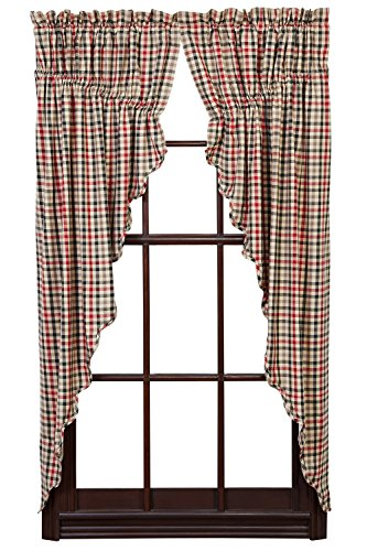 Victory Valance Pattern (Victory Prairie Curtain Scalloped Lined Set of 2)