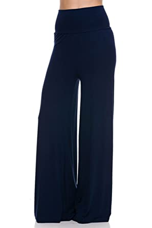 bd010912c130f NioBe Clothing High Waisted Womens Long Wide Leg Palazzo Pants at ...