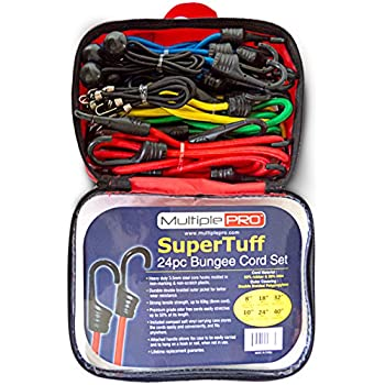 MultiplePRO SuperTuff 24-Pc Bungee Cord Set - 6 Assorted Sizes