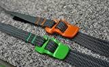 Green : 2pcs Outdoors Tie Down Accessory Strap with Hook Buckle for Backpack