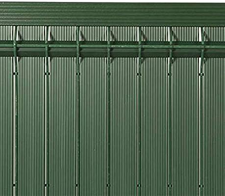 GMP – Malla de ocultación de PVC Houston, Malla rígida al Pliegue de 21 mm, Calidad Profesional, Verde: Amazon.es: Jardín