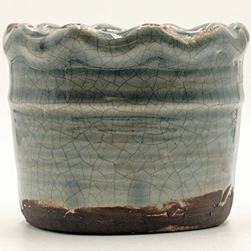 Warm Cinnamon Buns Ruffled Pot Swan Creek Candle (Color Steel Grey)