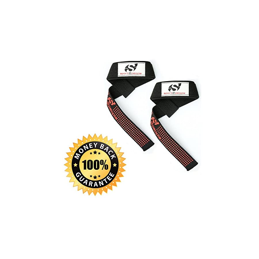 Weightlifting Wrist Support Deadlift Straps for Weight Lifting, Bodybuilding, Powerlifting, and Strength Training, Crossfit